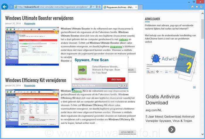 Ads by Media View verwijderen - Adware:Win32/BetterSurf