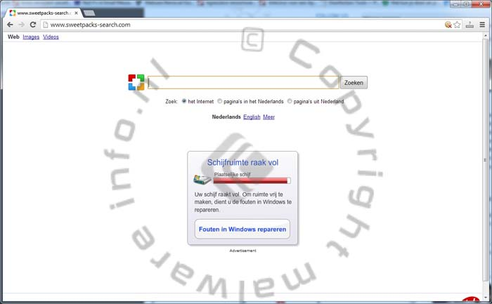 Sweetpacks-search.com Browser Hijacker verwijderen