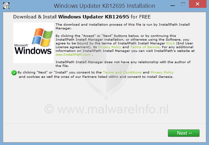 Windows Updater KB12695 verwijderen