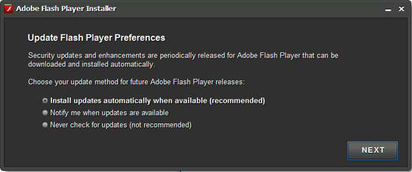 Adobe Flash Player updates