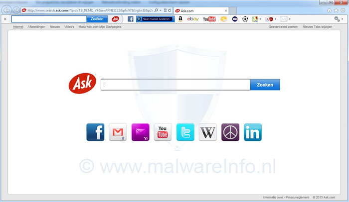 Search Ask.com (Ask Toolbar) verwijderen