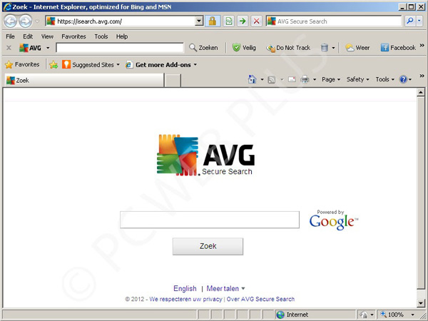 AVG Secure Search uitschakelen