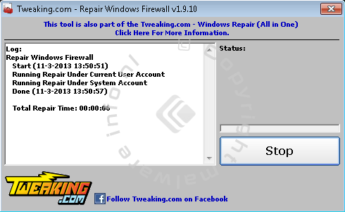 Repair Windows Firewall
