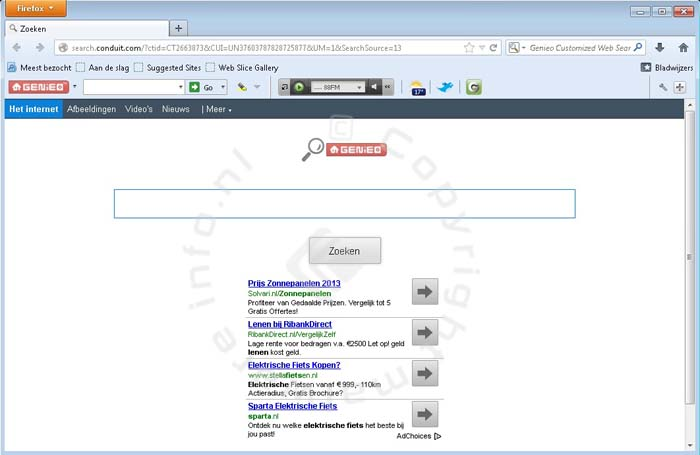 Search.Genieo.com (Genieo toolbar)