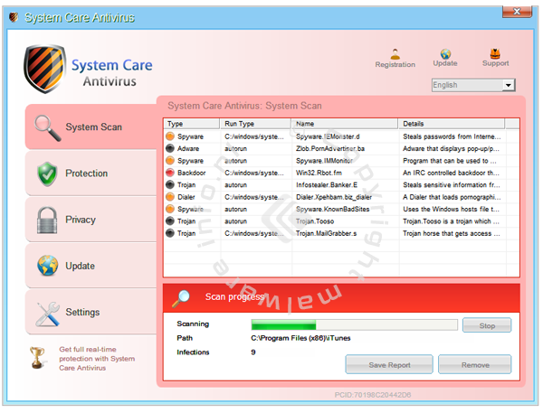 System Care Antivirus removal